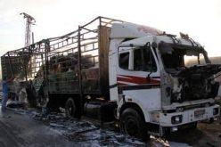 غارة جوية دمرت قافلة المساعدات لحلب