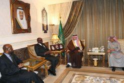 عبدالله بن مساعد يستقبل رئيس مجلس الشورى البورندي