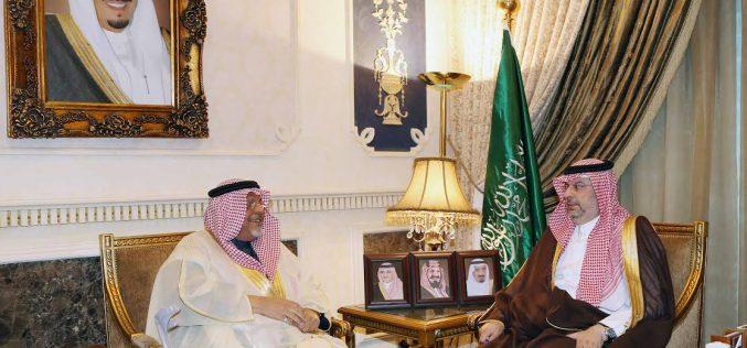 ابن مساعد يستقبل رئيس مجلس إدارة الصم بجدة