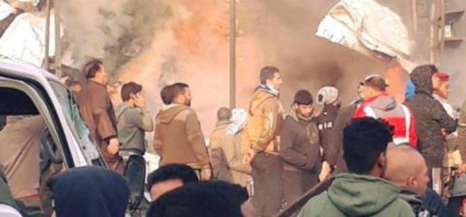 مقتل 12 وإصابة 50 في تفجير سوق خضار بغداد