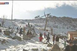 بعيدا عن المتفجرات..عراقيون  يتزلجون بجبل كورك!
