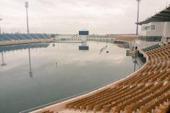 غرق ملعب مدينة الأمير سعود بن جلوي بالراكة .. والمسابقات تنقل المباراة للدمام