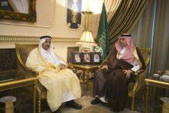 عبدالله بن مساعد يستقبل رئيس الاتحاد الآسيوي للسلة