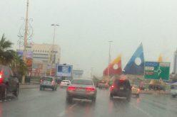 """""""الأرصاد"""": هطول أمطار متفرقة على 8 مناطق"""