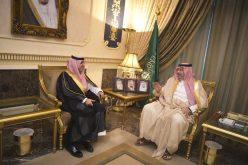 عبدالله بن مساعد يستقبل رئيس ديوان المراقبة