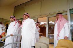 ابن مساعد ورؤساء الأندية السعودية في مدرجات الجوهرة