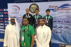 """ثلاث ميداليات لأخضر السباحة في """"خليجي 14"""" بالدوحة"""