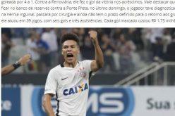 """صحيفة برازيلية تنتقد مستوى لاعب النصر السابق """"ماركينيوس"""" مع كورنثيانز"""