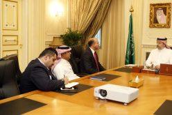 عبدالله بن مساعد يستقبل الرئيس التنفيذي لشركة اتحاد الاتصالات موبايلي