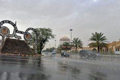 استمرار هطول الأمطار الرعدية على معظم مناطق المملكة
