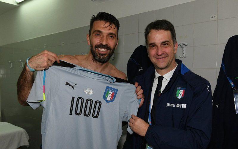 إيطاليا تتجاوز ألبانيا في مباراة الألفية للقائد بوفون