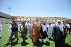 رئيس الهيئة العامة للرياضة يفتتح منشأة نادي ضمك الرياضية بخميس مشيط