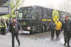 انفجار قرب حافلة فريق بروسيا دورتموند وإصابة لاعب