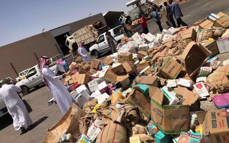 بلدية طريف تغلق 8 محلات وتصادر وتتلف أكثر من 11 طناً من المواد الغذائية الفاسدة