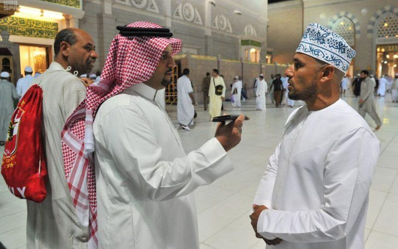 عدد من ضيوف الرحمن يشكرون المملكة على خدماتها المقدمة في المسجد النبوي