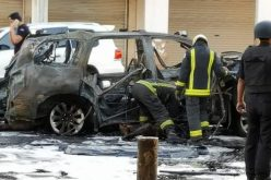 انفجار سيارة تقل مطلوبَيْن أمنيين وأسلحة بالقطيف