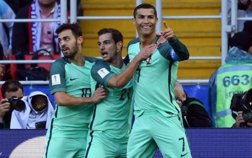 رونالدو يقود البرتغال للفوز على روسيا في كأس القارات