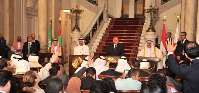 وزراء خارجية المملكة ومصر والإمارات والبحرين يدينون في مؤتمر صحفي دعم قطر للإرهاب وجماعات التطرف