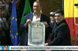 الجنسية الشرفية من نابولي للاسطورة مارادونا