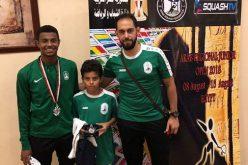 محمد آل نصفان أفضل لاعب اسكواش عربي ناشئ