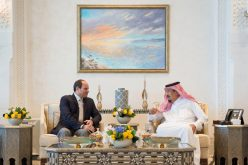 خادم الحرمين الشريفين يستقبل الرئيس المصري
