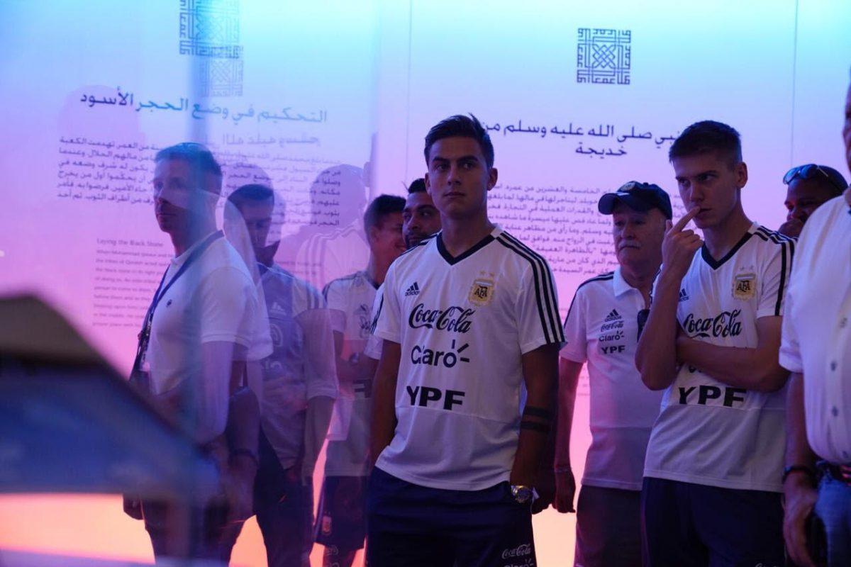 بالصور.. منتخب التانجو يزور المتحف الوطني للآثار والتراث