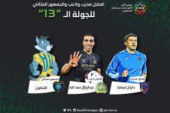 جوائز الجولة الـ 13: ايسايلا أفضل مدرب للمرة الثانية وحمد الله نجم الجولة وجمهور التعاون مثالياً