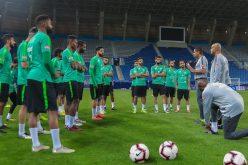بالصور : المنتخب السعودي يستعد للقاء غينيا والامارات