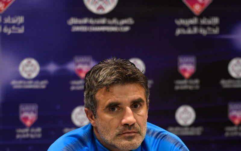 زوران : كأس زايد هدف رئيس، ولا نُفاضل بين بطولة وأخرى