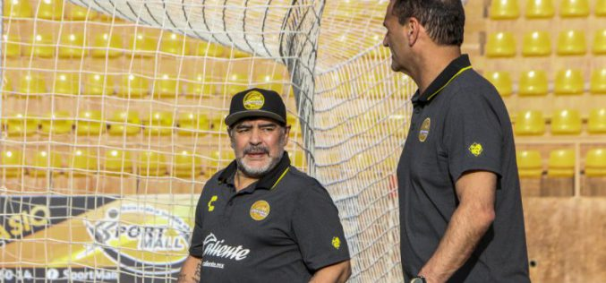 مارادونا يتراجع .. و يقرر عدم الاستمرار في الدوري المكسيكي