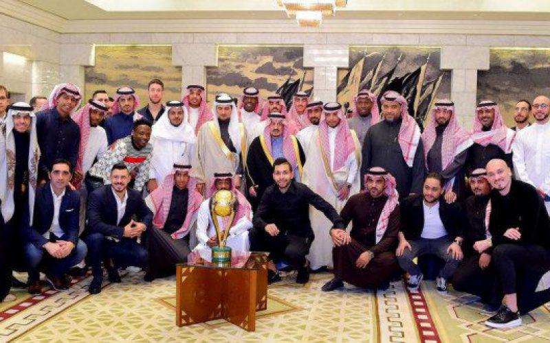 أمير الرياض يستقبل أبطال السوبر السعودي