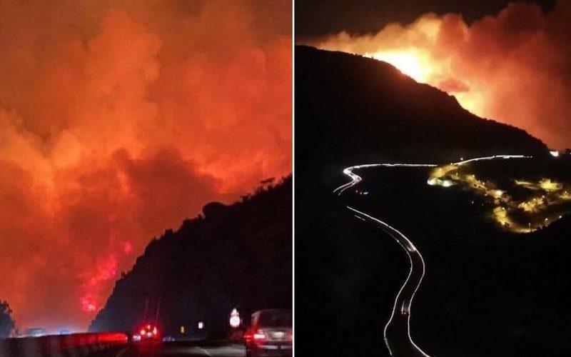 القبض على ثلاثة متسللين لقيامهم بإضرام النار وتسببهم في حريق جبل غُلامه بمحافظة تنومة